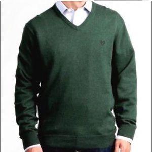 Men's Chaps Olive Cotton Cashmere Blend Sweater